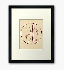 Sacred Circle - Original Enso Zen Painting Framed Print