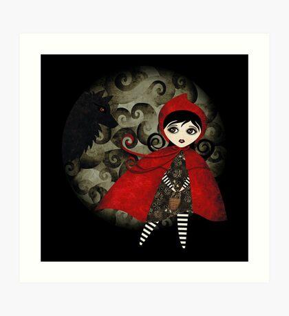 Little Red Capuccine Art Print