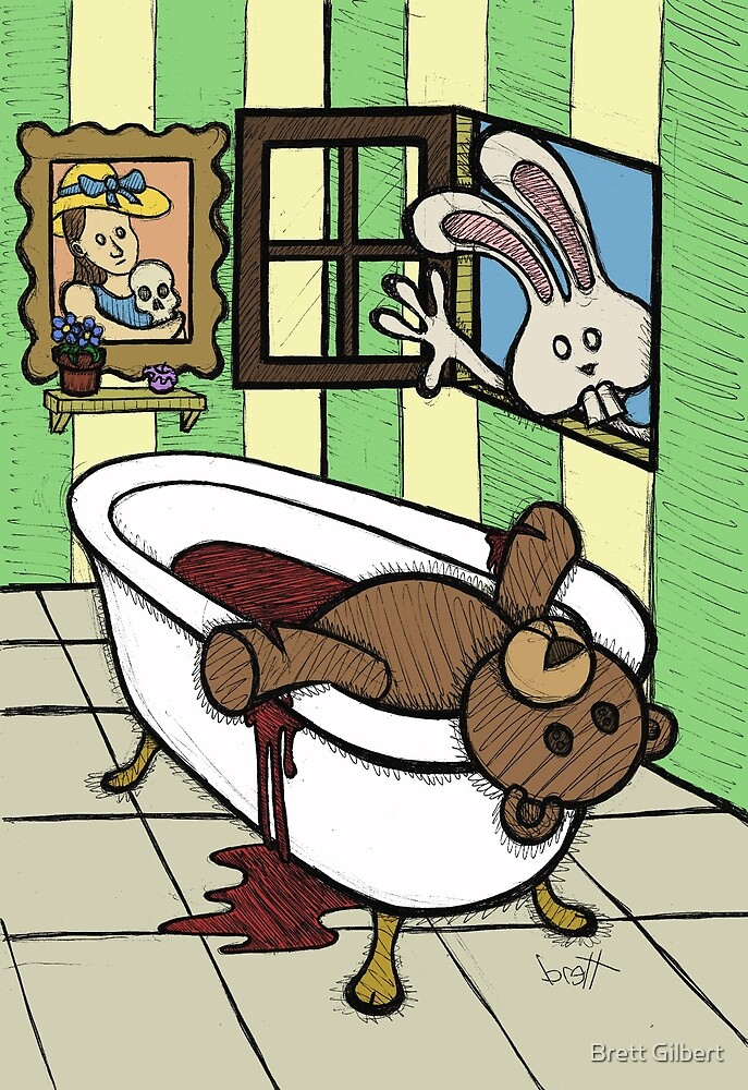 Teddy Bear And Bunny - The Discovery by Brett Gilbert
