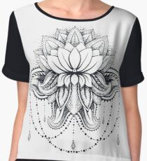 ornamental Lotus Chiffon Top