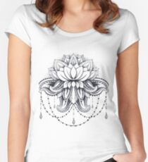 ornamental Lotus Women's Fitted Scoop T-Shirt