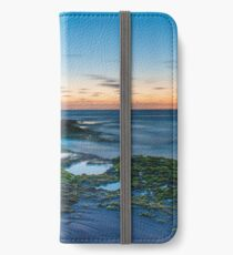 Sunset over a rockpool iPhone Wallet/Case/Skin