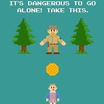 It's Dangerous To Go Alone! (Take Waffles) by ECink