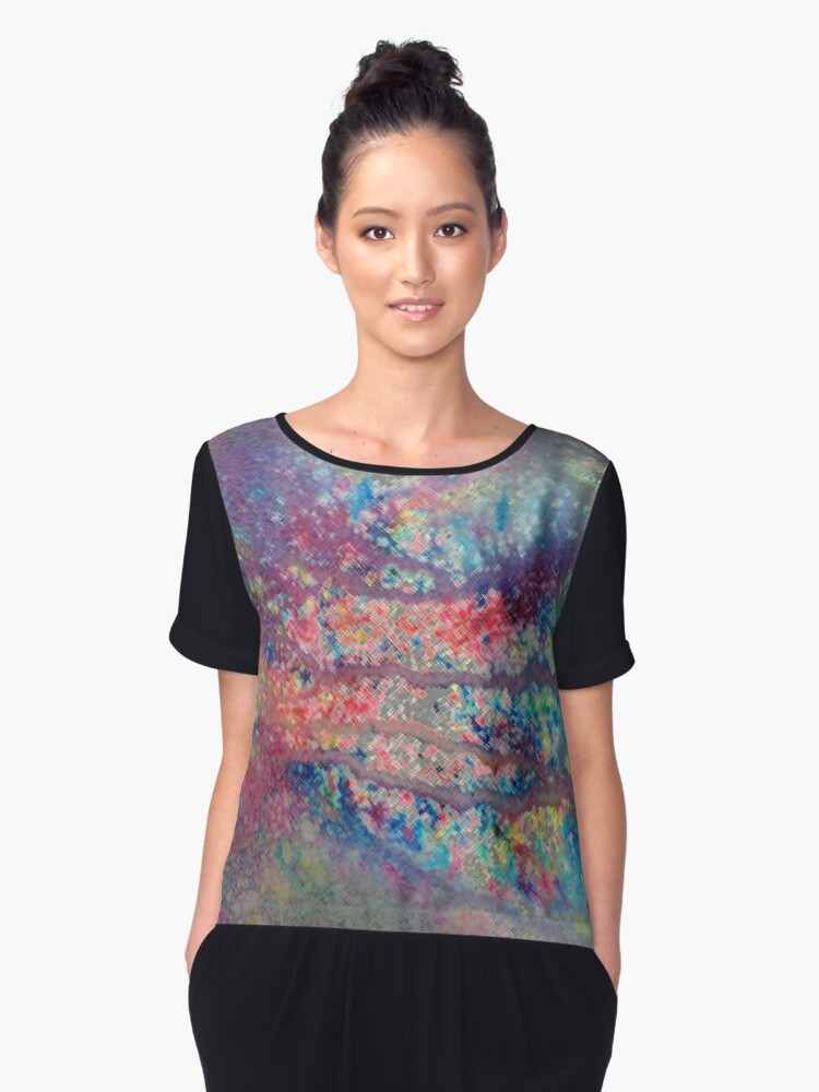 Abstract.26 Women's Chiffon Top Front