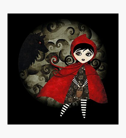Little Red Capuccine Photographic Print