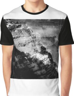 winter light at Grand Canyon national park, USA in black and white Graphic T-Shirt