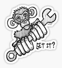 Monkey Wrench Sticker