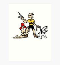 Bad Ass Charlie Brown Art Print