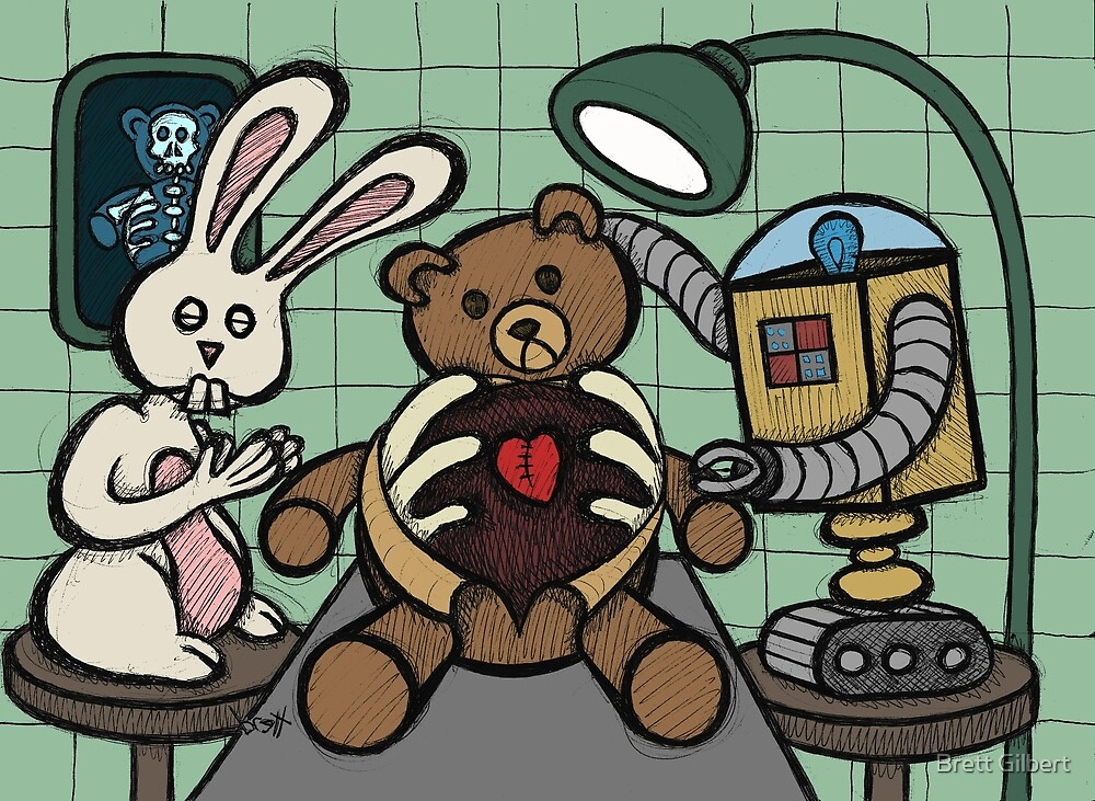 Teddy Bear And Bunny - Bearing The Heart And Paying For It by Brett Gilbert