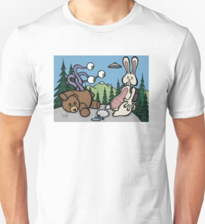 Teddy Bear and Bunny - The Confession T-Shirt