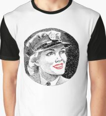 WW2 Army Girl 2 Graphic T-Shirt
