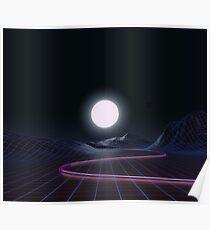 Neon Moonset Poster