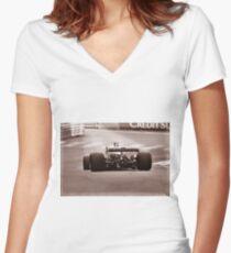 Grand Prix Historique de Monaco #12 Women's Fitted V-Neck T-Shirt