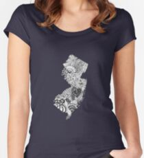 New Jersey Doodle Women's Fitted Scoop T-Shirt