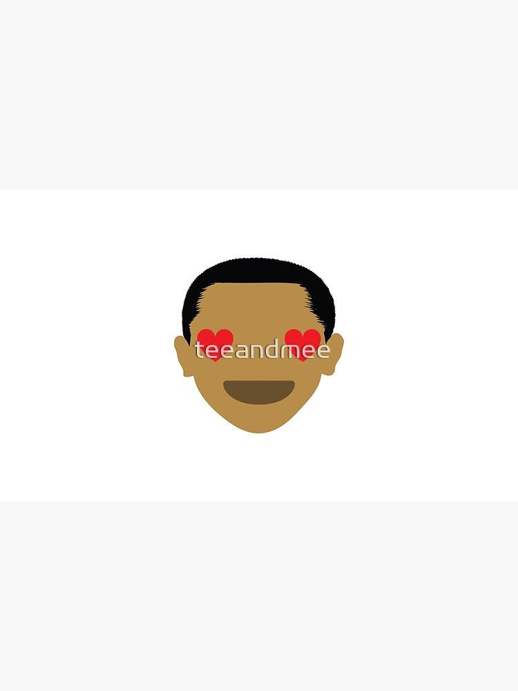 """Barack """"The Emoji"""" Obama Heart and Love Eyes by teeandmee"""