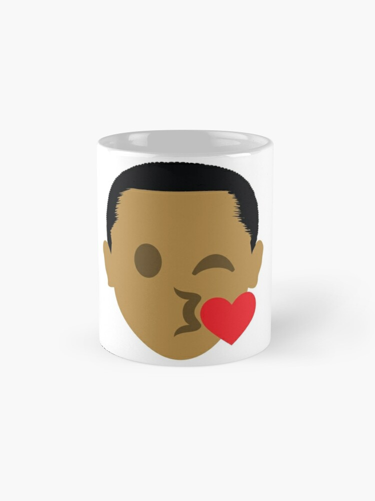 "Alternate view of Barack ""The Emoji"" Obama Flirting and Blowing Kiss Mugs"