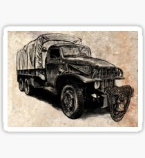 World War 2 Allied Army Truck Sticker