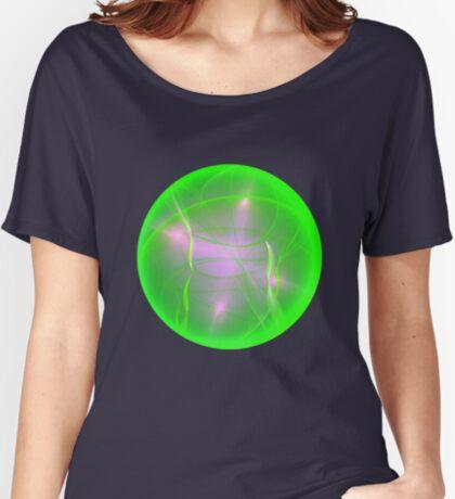 Green light planet #Fractal Art Relaxed Fit T-Shirt
