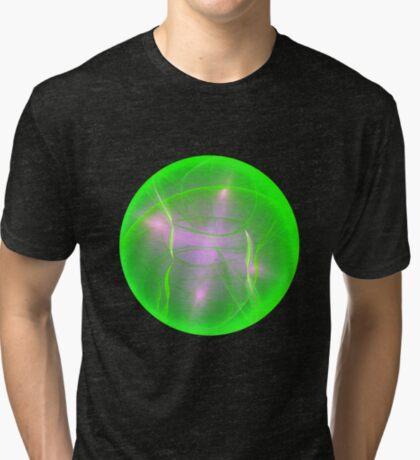 Green light planet #Fractal Art Tri-blend T-Shirt