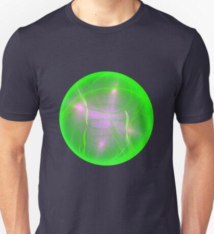 Green light planet #Fractal Art T-Shirt