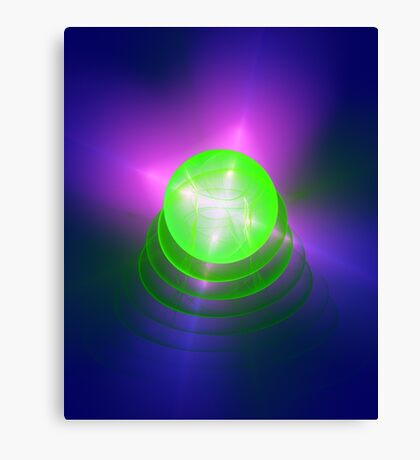Green light planet #Fractal Art Canvas Print