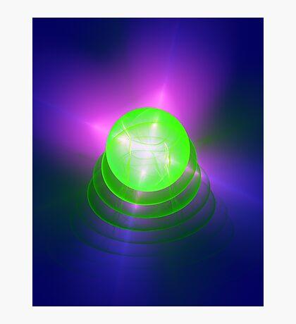Green light planet #Fractal Art Photographic Print