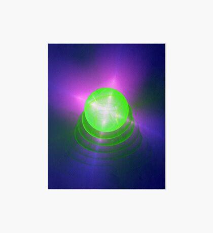 Green light planet #Fractal Art Art Board Print