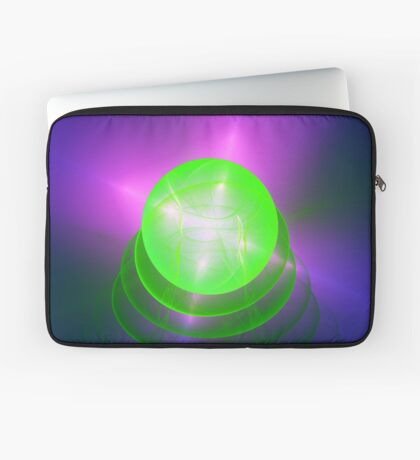 Green light planet #Fractal Art Laptop Sleeve