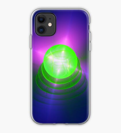 Green light planet #Fractal Art iPhone Case