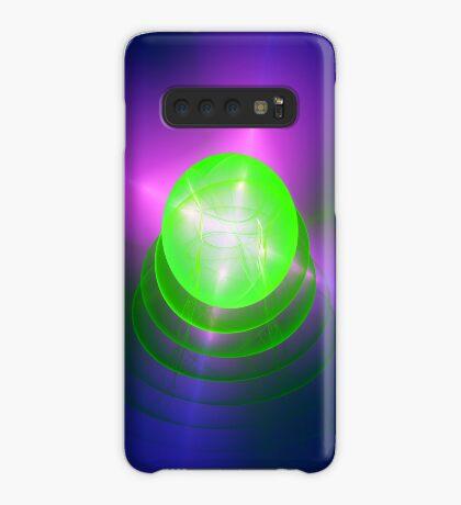 Green light planet #Fractal Art Case/Skin for Samsung Galaxy