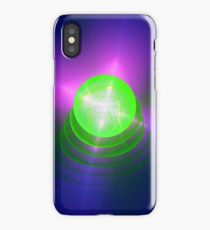 Green light planet #Fractal Art iPhone Case