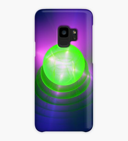 Green light planet #Fractal Art Case/Skin for Samsung Galaxy