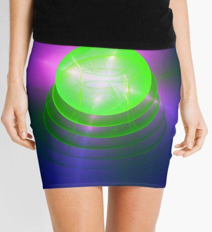 Green light planet #Fractal Art Mini Skirt