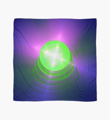 Green light planet #Fractal Art Scarf