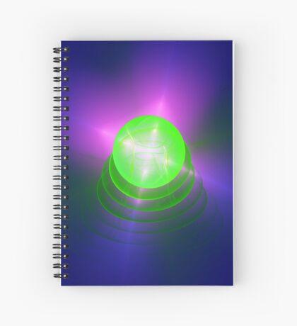 Green light planet #Fractal Art Spiral Notebook