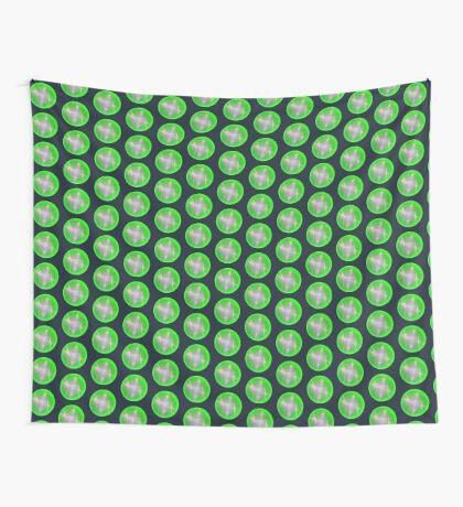 Green light planet #Fractal Art Wall Tapestry