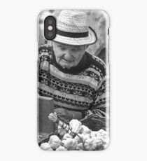Garlic seller. iPhone Case