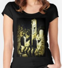 i love  new york dated 1887, collage Women's Fitted Scoop T-Shirt