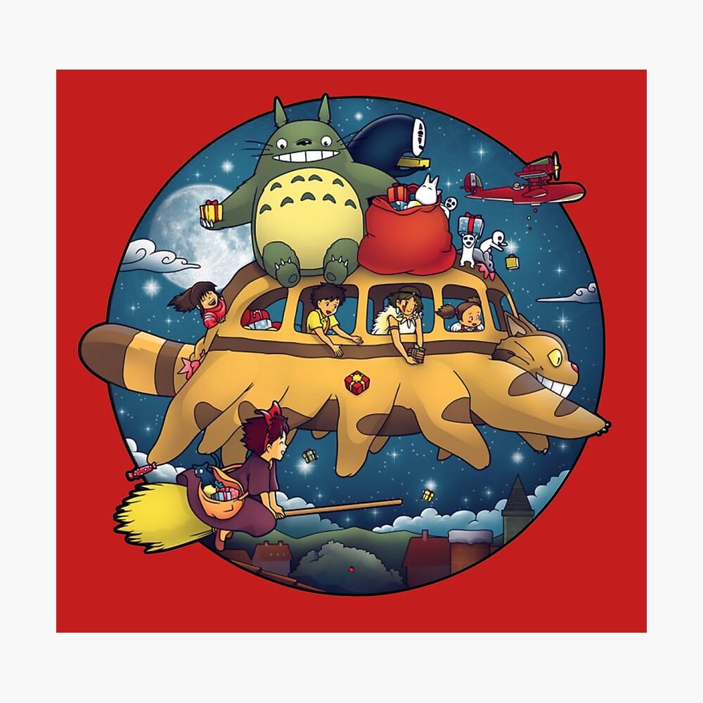 Ghibli World Lámina fotográfica