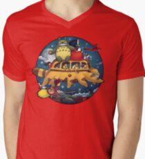 Ghibli World Men's V-Neck T-Shirt