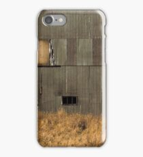 Metal Shed in a Field iPhone Case/Skin