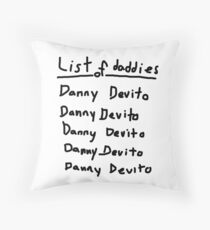 Everyone List Your Daddies! Throw Pillow