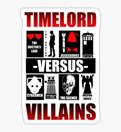 Time versus Villains Sticker