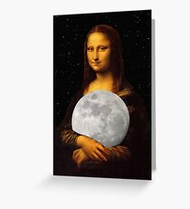 Moona Lisa Greeting Card
