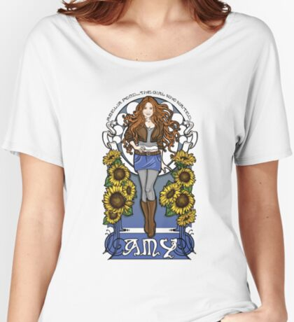 The Girl Who Waited (Amy in sunflowers) Women's Relaxed Fit T-Shirt