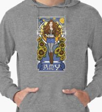 The Girl Who Waited (Amy under a Van Gogh sky) Lightweight Hoodie
