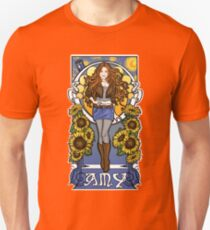The Girl Who Waited (Amy under a Van Gogh sky) Unisex T-Shirt