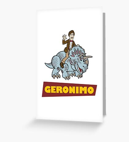 """Geronimo"" Greeting Card"