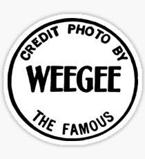 Weegee Sticker