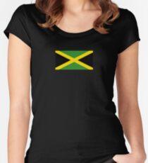 Jamaikanische Flagge - Jamaika T-Shirt Tailliertes Rundhals-Shirt